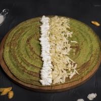 Спаначена палачинка с крема сирене и кашкавал