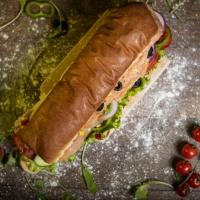 Сандвич пушена сьомга и крема сирене