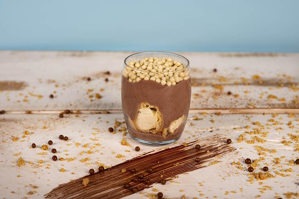 Шоколадов мус с еклери